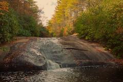 Granny Burrell Falls (agasfer) Tags: 2016 northcarolina panthertownvalley appalachia hiking autumn colors foliage pentax k3 sigma1020 topaz restyle waterfall cottoncandy