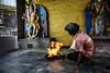 Shiva Thandava and the Holy Fire (Anoop Negi) Tags: bangalore bengaluru india karnataka temple reigion hindu hinduism shiva thandava tandav thandavam lord dancing ananda urdhava anoop negi ezee123 photo photograpjy ceremony prayer