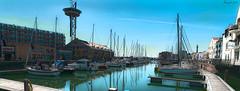 Quiet afternoon (ericbaygon) Tags: boat bateau vlissingen holland d300s nikon nikonpassion water eau rivire voilier quai