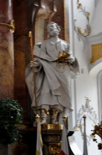 Staffelstein (Alemania). Basilica Vierzehnheiligen. Altar. Santo