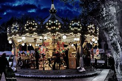 But the carousel never stops turning. (fabrizio.magno) Tags: life happy love live beautiful happiness instagood enjoy people forever carousel horses park kids pretty themepark night lights goodnight city dark picoftheday amazing street streetphotography urban streetart