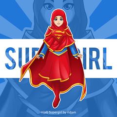 Hijab Supergirl (ridjam) Tags: hijabstyle illustration hijabfashion hijabers superman artwork characterdesign instaartist artsy art bestvector photooftheday cosplay hijabi supergirl digitalart dccomics artoftheday artist dkvdaily comics instaart vectorart drawing hijab fanart dc vectorid design draw