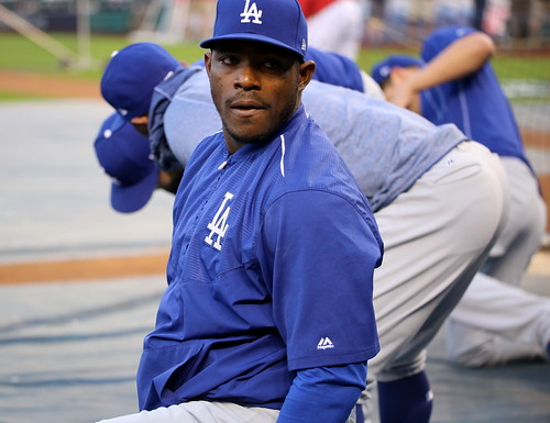 Dodgers outfielder Yasiel Puig looks on by apardavila, on Flickr