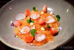 20161014-01-Cured salmon with mandarin oil at Hearth in Hobart (Roger T Wong) Tags: 2016 australia hobart iv metabones rogertwong sigma50macro sigma50mmf28exdgmacro smartadapter sonya7ii sonyalpha7ii sonyilce7m2 tasmania apple dinner food hearth mandarinoil salmon