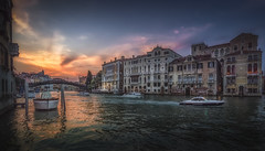 Gran Canal (olemoberg) Tags: grancanal venice venezia italy italia boats canal bridge