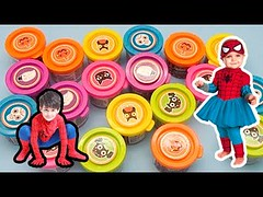 Learn Colours for Toddlers Kids with Halloween Play Dough! Fun Learning Challenge! (champaleincristophe) Tags: hulk vs superman iron man avengers eggs surprise kinder toys sorpresa learn english for kids children toddlers beginners joy unboxing disney collector paw patrol shopkins egg
