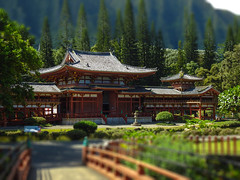 Byodo-In Temple Tilt-Shift