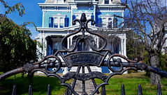 Ornate Iron Fence (hpaich) Tags: iron gate fence matawan nj jersey newjersey ryermansion