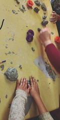 Kids Crafts ... Real People Indoors  Togetherness Human Hand Human Body Part Childhood Children Playing Children Play Learning Education Clay Making (Almena14) Tags: kids crafts realpeople indoors togetherness humanhand humanbodypart childhood childrenplaying children play learning education clay making