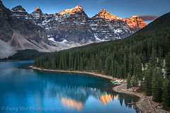 Moraine Lake & Valley Of The Ten Peaks At Sunrise, Banff National Park, Alberta, Canada (Feng Wei Photography) Tags: banffnationalpark landscape beautiful highangleview sunrise alberta lakemoraine unesco canada scenics horizontal scenery turquoise ca traveldestinations mountainrange snowcappedmountain rockymountains canadianrockymountains colorimage tourism landmark beautyinnature travel valleyofthetenpeaks famousplace tranquilscene forest northamerica canadianrockies