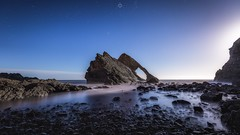 Bow by Moonlight (Augmented Reality Images (Getty Contributor)) Tags: astrophotography bowfiddlerock canon coastline landscape longexposure moonlight morayshire night rocks scotland seascape stars water waves