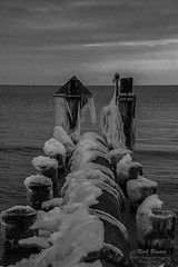 Frozen in Time (White Balance Imaging Photography) Tags: beachocean ice nature norfolk oceanview places seasons snow virginia weather winter
