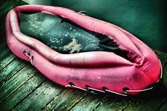 the red rubber boat (camerito) Tags: red rubber boat rotes gummiboot hdr camerito schlauchboot nikon1 j4 1nikkor185mmf18 flickr austria sterreich
