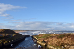 Seaton Sluice harbour in November (DavidWF2009) Tags: northumberland seatonsluice sea beach harbour