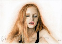 Dessin / Drawing - Model Emma Laird (original photo by Teddy Park) © Yannewvision - 2016 ('Yannewvision' / #DontFollowThenUnfollow) Tags: emmalaird emmlaird american model beauty fashion fashionista girl girly triste sad traurig 悲しい jeune young jung joven 若い ado adolescent teen teenager ティーンエイジャー portrait retrato porträt 肖像画 dessin croquis illustration drawn drawing desenho projeto sketch sketching pratice illustrat picture dibujos 描画 zeichnung couleur color colordrawing fusain charcoal kohlezeichnung dibujoalcarbón 木炭画 2016 yannewvision blonde