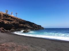 Playa de Fasnia, Tenerife (alessandrabee1) Tags: blacksand sand canaryislands oceanview ocean volcanicrocks volcanic summer beach tenerife