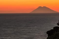 Stromboli (paolotrapella) Tags: sunset calabria capo vaticano sea stromboli volcano vulcano tramonto