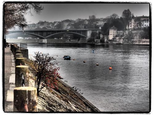 Rheinufer Blick zur Wettsteinbrücke