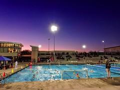 Last Game (/\ltus) Tags: waterpolo dusk pool backbay backbaywaterpolo irvine california socal oc orangecounty sony dschx80 southerncalifornia woollettaquaticscenter finals