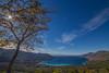 Blue view (Vagelis Pikoulas) Tags: sun sunburst sunshine porto germeno greece november 2016 autumn landscape blue gree tree europe canon 6d tokina 1628mm sea seascape