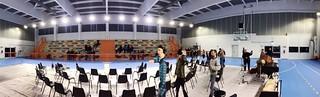 Inizio prove del Concerto di Santa Cecilia nella nuova palestra comunale