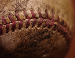 Macro Mondays: stitch (f8shutterbug) Tags: idb pentax35macrolimited macro baseball stitches macromondays stitch sports texture red