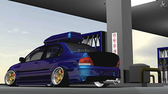 RUINED RALLY CAR (Justin Young Virtual Photography) Tags: stuner mitsubishi lancerevolution evovii ct9a stance slammed hellaflush