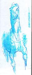 caballo a lapicero (ivanutrera) Tags: caballo draw dibujo drawing dibujoalapicero dibujoenboligrafo boligrafo pen lapicero drawballpointpen animal sketch sketching horse ilustracion