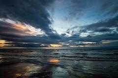 big sky at crosby beach (swolstenholme1977) Tags: crosbybeach beach big sunset dusk art