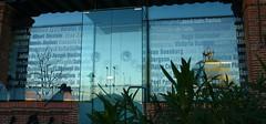 Cristaleras de la Residencia de Estudiantes con todos los personajes que pasaron por la institución. Calle Pinar. Madrid (Carlos Viñas-Valle) Tags: cristaleras residenciadeestudiantes pabellontrasatlantico callepinar