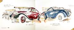 MER - Auto Retro (velt.mathieu) Tags: sketch vintagecar automobile dessin mathieu velt