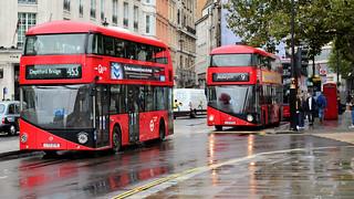 Routemasters @ Trafalgar Square.