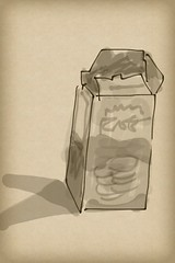 2015.08.16 Food Carton (Julia L. Kay) Tags: zenbrush zenbrushapp zen brush zenbrushapponly bw blackandwhite black white juliakay julialkay julia kay artist artista artiste knstler art kunst peinture dessin arte woman female sanfrancisco san francisco sketch dibujo daily everyday 365 mobileart mobile idraw isketch iart digital mda iamda mobiledigitalart ipad touchscreen fingerpaint fingerpainter touch tablet iphone idevice ithing