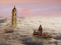 La torre (grcornici.gianni) Tags: torre nuvole mare tramonto
