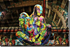 DEVOTIONS (jawadn_99) Tags: explore interrestingness blue art creative photography colors multicolors geometry stage shadow performance surreal yellow colours statue architecture colomns artcenter devotion cult religion warship coth5