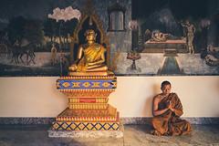 Wat Phra That Doi Suthep ('whitewithone) Tags: thailand th chiangmai doisuthep watphrathatdoisuthep monk buddhistmonk temple buddhisttemple buddhism praying