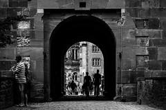 The Gate (parenthesedemparenthese@yahoo.com) Tags: dem allemagne bn bw blackwandwhite blancetnoir castle chateau couple ete femme frankfurt gate germany heidenberg man monochrome nb noiretblanc silhouettes woman canoneos600d day ef50mmf18ii exterieur homme journee mur ombres outdoors porte summer wall