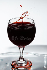 (Jo_Morley) Tags: wine glass wineglass red redwine liquid splash splashing splashart water droplet droplets drink photography photoshop sony indoor inside interesting contrast exposure bright flash manual manualflash light lights experiment experiments