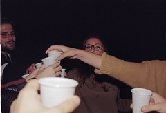 Cheers (Changeover.) Tags: analog analogica yashica fx3 grana grain film story flash compleanno birthday cheers brindisi