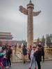 Tiananmen Square-0956 (kasiahalka (Kasia Halka)) Tags: 109acres 2016 beijing china citysquare gateofheavenlypeace greathallofthepeople mausoleumofmaozedong monumenttothepeoplesheroes nationalmuseumofchina tiananmensquare