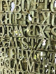 IMG_3173 (notredamepublicart) Tags: houstondavidlobdell indiana plinth publicart rileyhall lettes metal outdoors sculpture text