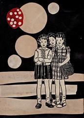 Trois Filles (Jeff Kallet) Tags: kallet collage contemporaryart artonpaper fineart