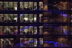 6/365 (ByeCi) Tags: office glass reflection light neon dublin liffey ifsc building street night geometric geometry zoom tamron photochallenge photo challenge photoeverday 365 photo365 work