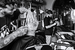 A day at the barber shop (fcribari) Tags: 2016 35mm bw brasil brazil fujifilm olinda pernambuco xpro2 barber blackandwhite blancoynegro fotografiaderua monochrome pretoebranco street streetphoto streetphotography