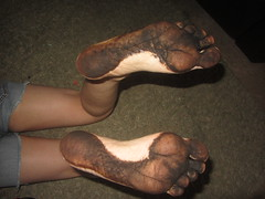 IMG_0002 (Elizabeth Townsend) Tags: dirty feet soles filthy black gre oily female