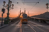 Sunset in Liberty bridge (Vagelis Pikoulas) Tags: sun sunset sunshine sunburst liberty bridge budapest pest buda travel tram traffic sky canon 6d tokina 1628mm view landscape hungary europe city cityscape 2016 november autumn wide