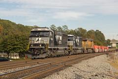 NS 23N at Austell (travisnewman100) Tags: norfolk southern train railroad ns freight container 23n sd60e union pacific ge emd austell inman terminal subdivision georgia division