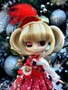 Silver And Gold.... And Red (Pullipprincess) Tags: pullip pullips cute kawaii christmas holiday groove grooveinc jpgroove junplanning pullipprupate prupate angelicpretty ap angelic pretty lolita outdoor