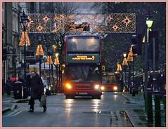 Happy shoppers homeward bound. (geoff7918) Tags: colmorerow dennis alexander e400nxwm bx09pgu 4821 peace decoration