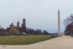 A gray day on the Mall (erikcoxphotography) Tags: washingtondc washingtonmonument smithsoniancastle gray bleh